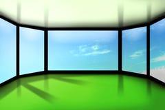 небоскреб комнаты офиса иллюстрация вектора