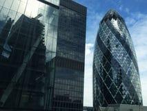 Небоскреб Лондон Англия Великобритания корнишона Стоковое Изображение RF