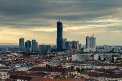 Небоскреб на вене (Donau-город) Стоковое Изображение RF