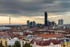 Небоскреб на вене (Donau-город) Стоковые Фото