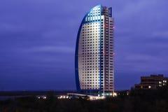небоскреб ночи стоковые фото