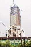 Небоскреб под конструкцией, Шанхаем, Китаем Стоковое Изображение RF
