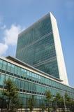 Небоскреб секретариата Организации Объединенных Наций ООН и Dag Hammarskjöld l Стоковое Изображение