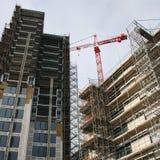 небоскреб строительной площадки Стоковые Фото