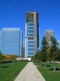 небоскреб строительной площадки chicago стоковые изображения rf