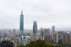 Небоскреб Тайбэя 101, Тайбэй, Тайвань Стоковое фото RF