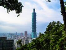Небоскреб Тайбэя 101, Тайвань Стоковые Изображения RF