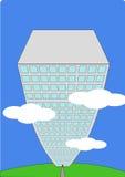 небоскреб шаржа иллюстрация вектора