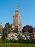 небоскреб warsaw Польши дворца Стоковое Изображение