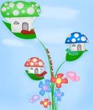 Небо бабочки червя муравья иллюстрации голубое стоковые фото
