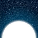 Небо белого круга синее ночное небо звёздное Стоковые Изображения RF