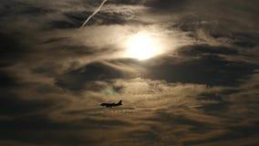 Небо Вашингтона плоская посадка против солнца видеоматериал