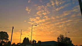 Небо вечера выше Стоковые Изображения