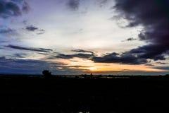 Небо вечера, небо захода солнца, пышное небо, облачное небо, красивое Стоковое фото RF