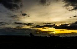 Небо вечера, небо захода солнца, пышное небо, облачное небо, красивое Стоковые Фотографии RF