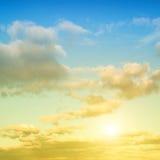 Небо вечера красоты Стоковые Изображения RF