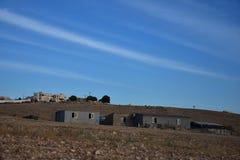 Небо вечера над пустыня Негев Израилем Стоковое Фото