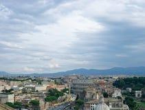 Небо вечера над Римом Стоковое Изображение RF