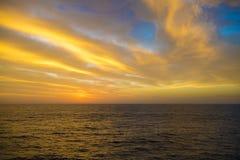 Небо вечера после захода солнца Стоковые Изображения