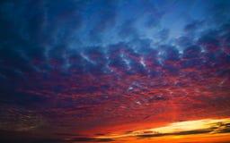 небо вечера Стоковые Изображения