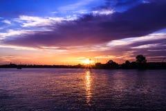 Небо вечера. Стоковые Изображения RF