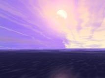 небо вечера Стоковое Изображение
