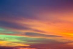 Небо вечера Стоковые Фото