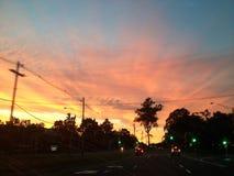 Небо взгляда захода солнца Стоковые Изображения