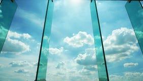 Небо вне окна Стоковое Изображение