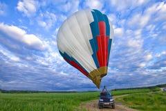 небо воздушного шара предпосылки Стоковое Фото