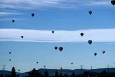 небо воздушных шаров полное стоковые фото