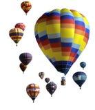 небо воздушных шаров agaisnt голубое горячее Стоковая Фотография RF