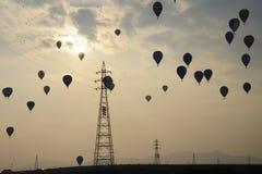 небо воздушных шаров горячее Стоковое Изображение RF