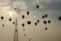небо воздушных шаров горячее Стоковая Фотография