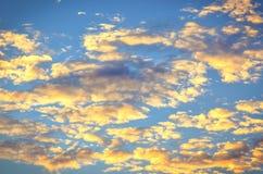 Небо восхода солнца предпосылки Стоковая Фотография
