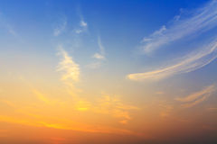 Небо восхода солнца Стоковая Фотография