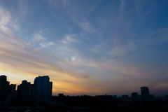 Небо восхода солнца Стоковые Фотографии RF