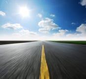 Небо высокого пути голубое Стоковое Изображение RF
