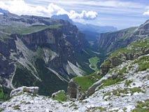 Небо высокой горы dolomiten Италия Стоковое Изображение RF