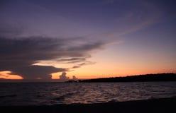 Небо в вечере, заход солнца, Стоковое Фото