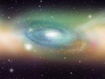 небо галактики зеленое Стоковое Изображение RF