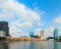 небо голубого городского пейзажа самомоднейшее Стоковые Фотографии RF