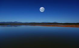 небо голубой луны Стоковая Фотография
