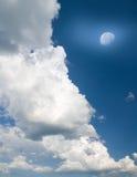 небо голубой луны Стоковая Фотография RF