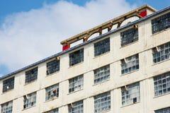 небо голубой ясной фабрики старое вниз Стоковые Фотографии RF