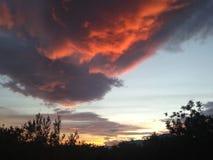 Небо горит стоковая фотография