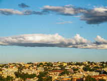 Небо города Белу-Оризонти - Бразилии Стоковые Фото