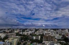 Небо города Стоковое Изображение