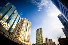 Небо & город Стоковое Изображение RF