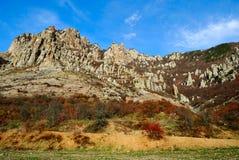 небо гор Крыма утесистое Стоковые Фото